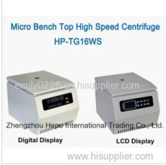 Microganism High Speed Bench Top Centrifuge