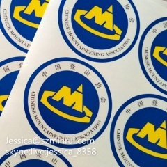 Promotional Advertising Removable Waterproof Transparent Die Cut Sticker Transparent Adhesive Sticker Label