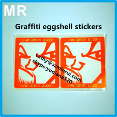 custom design blank border eggshell sticker