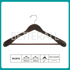 Dark Brown Wide Shoulder Wooden Coat Hanger