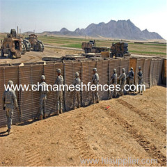 Sand Filled Gabion Hesco Blast Wall Defensive Barrier