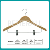 wooden hanger clothes hanger with clip