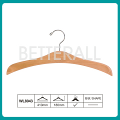 Flat body wooden children hanger