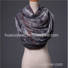 Custom Screen Print Wool Cashmere Scarf Factory Direct China