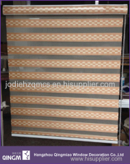 High quality double layered day and night roller blind fabric