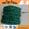 Electric galvanized Double Twist Barbed wire fencing real factory