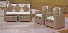 Rattan wicker outdoor sofa furniture set supplier