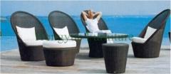 Rattan wicker outdoor sofa set furniture factory