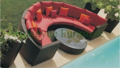 Wicker patio sofa set with cushions and pillows rattan sofa furniture