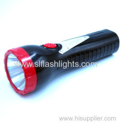 Plastic 6LED Rechargeable Flashlight Light
