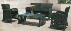 Outdoor wicker furniture sofa set rattan sofa set factory
