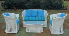 Wicker sofa set furniture outdoor rattan sofa set solutions