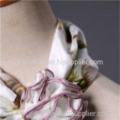 Custom Digital Print 100% Silk Scarf Factory