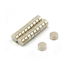 Neodymium cylinder hanging magnet/ndfeb disc N35 powerful magnet for sale
