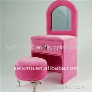 Dressing Table Shaped Velvet Box