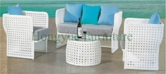 White wicker rattan patio sofa set outdoor rattan sofa furniture