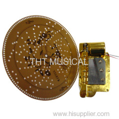 DISC BATTERY OPERATED MUSICAL CLOCK MOVEMENT