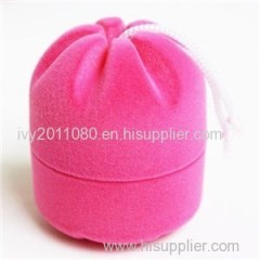 Drawstring Shape Velvet Ring Boxes