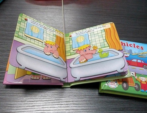 Children board book gloss lamination design and printing