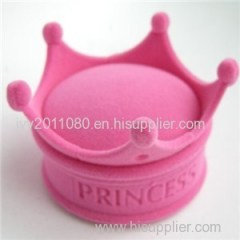Crown Shape Velvet Jewelry Box