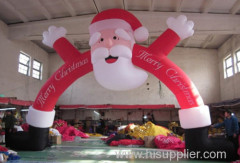 Creative Santa Claus Inflatable Arch on Sale