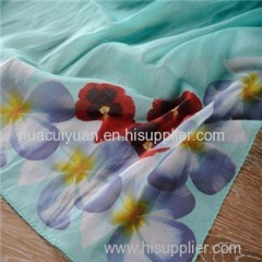 Custom Design Digital Printing Cotton Scarf