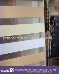 Three color zebra blinds rainbow roller blind for office