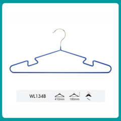 PVC hanger with curved shape / cheap metal clothes hanger