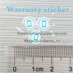 China bes destructible label manufacturer supply round 8mm diameter self adhesive warranty screw label for mobile repair