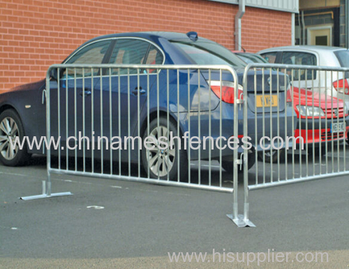 Removable galvanized Road Crowded Control Barricades