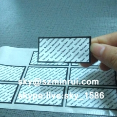 destructible screw seal stickers/warranty screw sticker/sticker paper