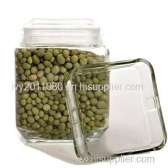 Square Glass Storage Jars