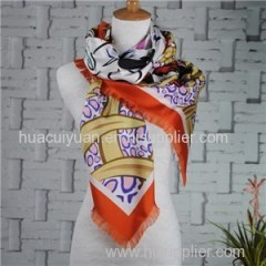 Custom Design 100% Pure Silk Twill Scarf