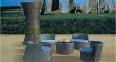 Outdoor patio furniture sale brown rattan sectional sofa sets