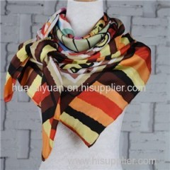 Custom Design Silk Twill Scarf