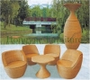 Outdoor wicker table chair furniture set sale