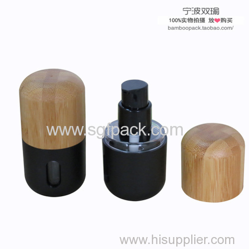 bamboo cosmetics pack 1 oz capacity 30ml liquid foundation bottle with bamboo cap
