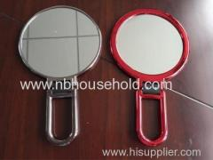 PLASTIC HAND HELD MIRROR W/ UV ELECTROPLATED