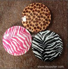 PLASTIC COMPACT MIRROR W/WATER PRINT