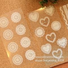 Custom Printed Transparent Vinyl Sticker Waterproof Removable Die Cut Vinyl Sticker Adhesive Clear Labels