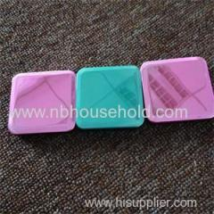 PLASTIC POCKET MIRROR W/ UV ELECTROPLATED