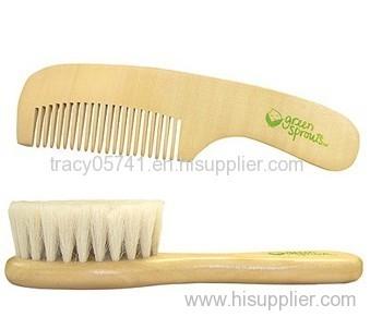 Wooden Baby Hair Brush Set