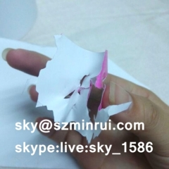 Factory Sale Strong Adhesive Invisible Cover Destructible Label Paper with Inside Color