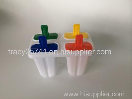 4pcs plastic ice cream mold