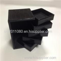 Black Square Leather Cosmetic Cases
