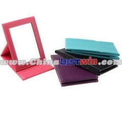 Foldable Single Side Square Desktop Compact Mirror with Cover