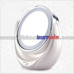 2014 new style hot sale LED double side desktop mirror power supplied with batteries