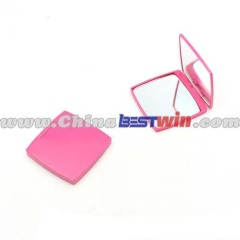 Pink Small Pocket Mirror/ Plastic Cosmetic Mirror/Square Compact Mirror