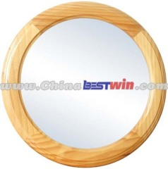 Wood Framed Round Mounted Bathroom Mirror/ Wall Mirror