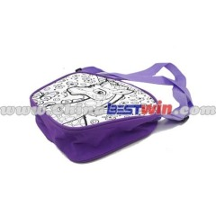 Square Shape Purple Single Shoulder Children's Bag